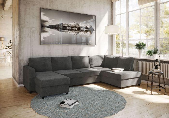 Svelvik sovesofa D3A venstre - mørk grå