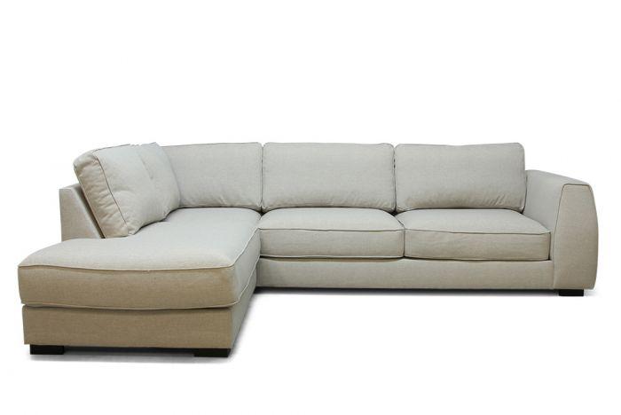 Risør A25 sofa med sjeselong - sand