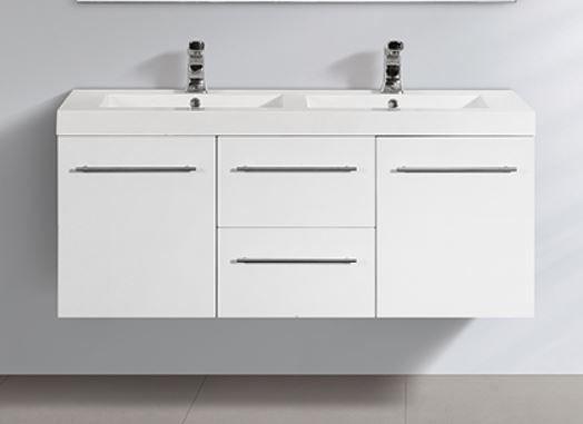 Angelica SM1200-2 baderomsmøbel hvit høyglans (kun hovedkabinett + servant)