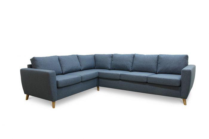 Arendal 2C3 hjørnesofa - sjøblå
