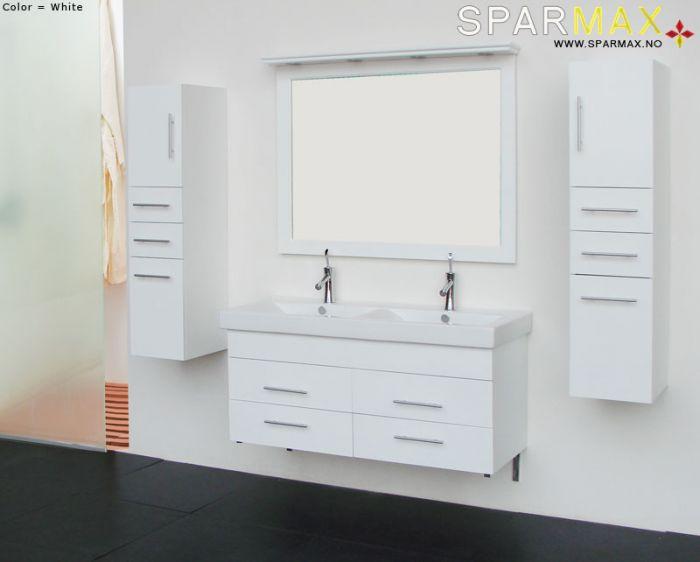 Ferrara baderomsmøbel 120 cm 2612D-1 hvit