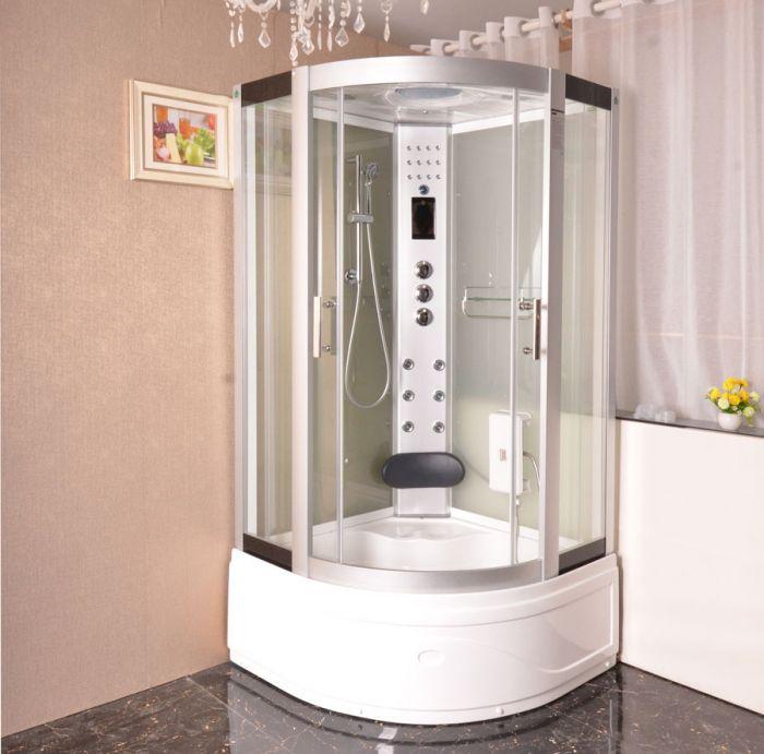 Aneto massasjedusj/badekar hvit 100x100