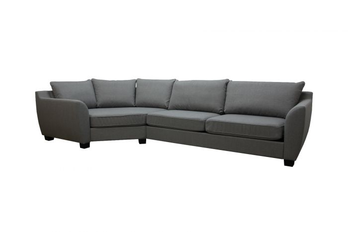 Fredrikstad MC25 sofa med maxihjørne - lys grå