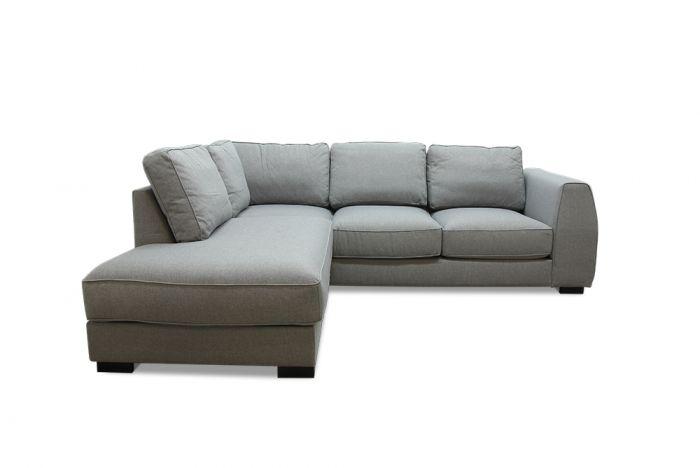 Risør A2 sofa med sjeselong - lys grå