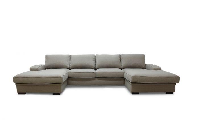 Grimstad D4D U-sofa med sjeselong - Beige