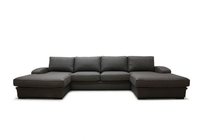 Grimstad D4D U-sofa med sjeselong - brun