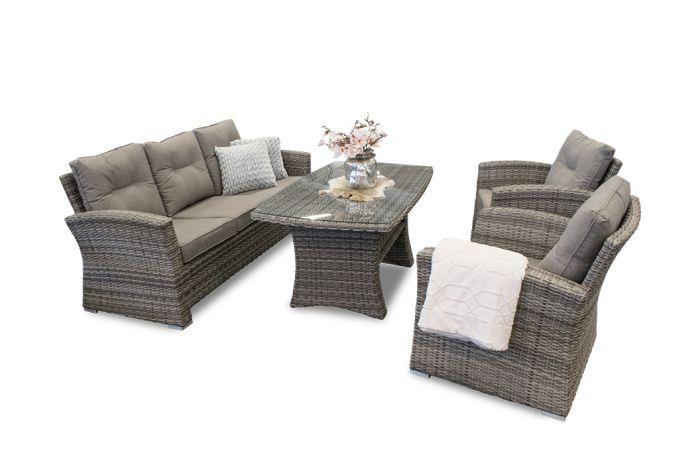 Hawaii - Sofagruppe m/3-seter, bord og 2 stoler i rotting