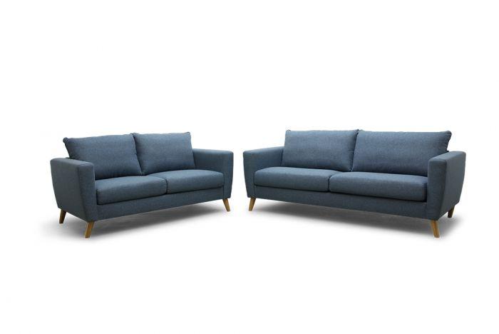 Kragerø 3 og 2-seter sofa - sjøblå