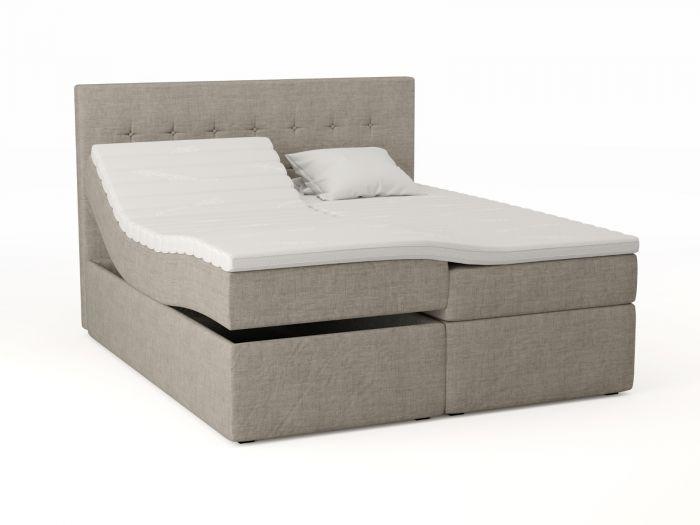 Premium regulerbar seng 180x200 - beige