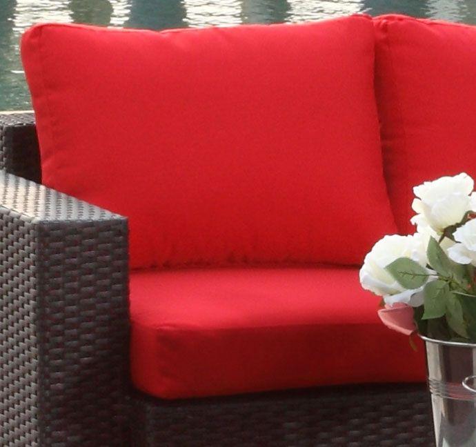 Røde putetrekk for Moonlight stol