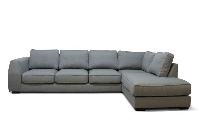 Risør 3A sofa med sjeselong - lys grå