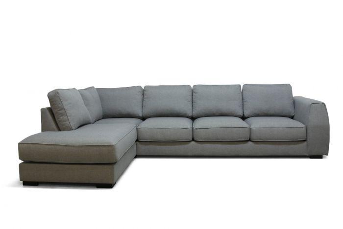 Risør A3 sofa med sjeselong - lys grå