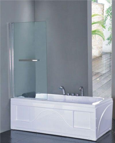 Dusjvegg for badekar 80 cm 601-PF1