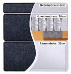 Comfort seng med oppbevaring 90x200 - sand