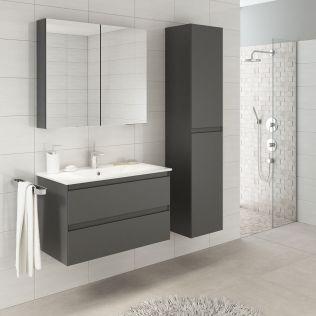 NoraDesign 80 cm baderomsmøbel grå matt