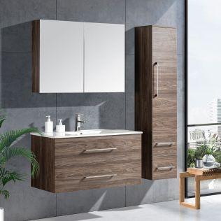 LindaDesign 100 cm baderomsmøbel grå alm