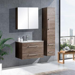 LindaDesign 80 cm baderomsmøbel grå alm