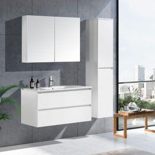 NoraDesign 100 cm baderomsmøbel hvit matt