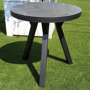 Jamaica rundt spisebord ø70 cm i aluminium, antrasitt