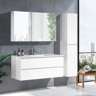 NoraDesign 120 cm baderomsmøbel single hvit matt