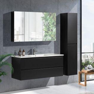 NoraDesign 120 cm baderomsmøbel single sort matt