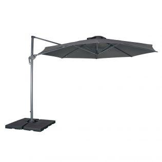 Sky tilt parasoll dia 350 cm i grå